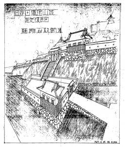 林田藩陣屋推定復原図