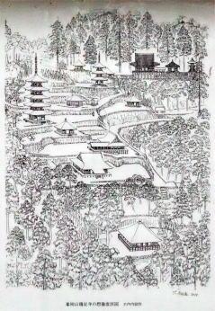 鶏足寺想像復原図
