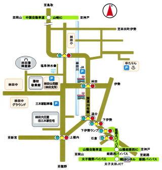 林田大庄屋旧三木家住宅周辺マップ